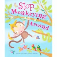 Large Childrens Bedtime Story - Stop Monkeying Around - Animal Picture Book 2472