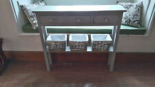 H80 W80 D20cm BESPOKE CONSOLE HALL TELEPHONE TABLE 3 DRAWER CHUNKY FRENCH GREY
