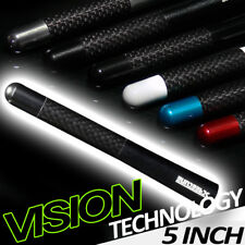 "5"" Stubby Carbon Fiber Aluminum Short Antenna Sandblast Blk Universal Screws Vb"