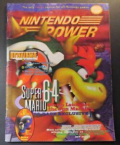 1996 Nintendo Power Magazine #88 September N64 Super Mario 64,Turok Poster
