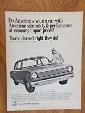 """1967 RAMBLER 155HP V8 AD A4 CANVAS PRINT POSTER 11.7""""x8.3"""""""