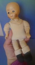 """Old Collectibles Vintage Toy Porcelain Doll Pups Baby Doll 8"""" inch"""