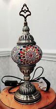 Handmade Turkish Moroccan Mosaic Style Table Lamp Light 1x Globe - UK Sellar