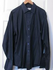 MENS CASUAL/DRESS HATHAWAY SHIRT / SIZE 17 34/35/ X LARGE NAVY/BLUE / FINE