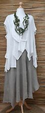 *ZUZA BART*DESIGN HAND MADE KNIT BOUCLE BEAUTIFUL JUMPER/OVERTOP**WHITE**Size XL