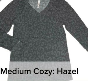 LULAROE Cozy: Hazel Long Sleeve V-Neck Shirt Medium