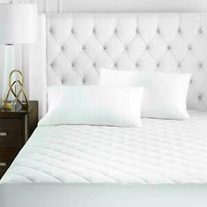 100%COTTON QUILTED MATTRESS PROTECTOR FITTED SHEET SINGLE DOUBLE KING Super king