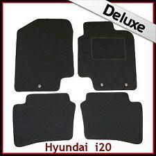 Hyundai i20 Mk1 2008-2014 3-eyelets Tailored LUXURY 1300g Carpet Car Mats BLACK