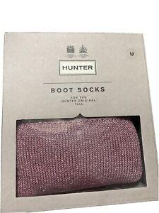 Hunter Boots Original Tall BS Glitter Cuff Socks Size M