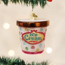 Old World Christmas Ice Cream Carton Glass Christmas Ornament 32177