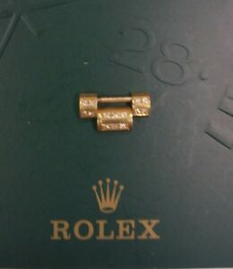 18K YELLOW GOLD & 2 ROWS DIAMOND LINK FOR MENS ROLEX PRESIDENT 16MM