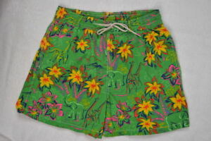 Ralph Lauren Men Green Hawaiian Print Swim Short Trunks NWT Large