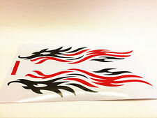 Fire Flame  Pattern Decal Sticker for Car Truck Window Laptop Guitar