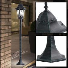 Rustico Alluminio Supporto Lampada Entrata Illuminazione Lanterna Esterno Vetro