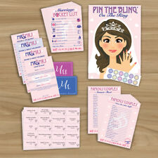 HEN NIGHT PARTY - 5 GAME PACK  - 10 PLAYER (Pin The Bling, Mr & Mrs) RRP £14