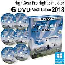FlightGear Flight Simulator 2018 MAXI DELUXE Edition Sim Windows 10 8 7 PC DVD