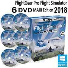 Flightgear Flight Simulator 2018 X Maxi Deluxe Edition SIM Windows 10 8 7 PC DVD