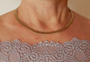 Edle Pierre Lang Halskette, vergoldet; absolut neuwertig!