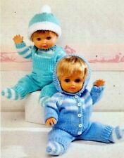 """Poupée/bébé prématuré ou reborn 12"""" - 22"""" Landau ensembles DK Knitting Pattern"""