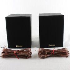 Emerson SP100R Rear Bookshelf Speaker Set of 2 Black for Home Theater System