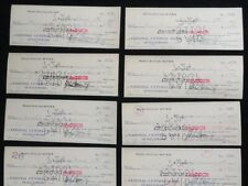 1937 Baltimore AM RADIO STATION WFBR * (10 cks) PAYMENT CHECKS * WJFK, WLIF, WJZ