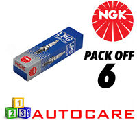 NGK LPG (GAS) Spark Plug set - 6 Pack - Part Number: LPG7 No. 1640 6pk
