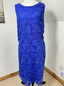 GOK For TU Thick Lace Tunic Dress Crochet Size 20 R Scalloped Hem Wedding Party