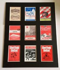 "SHEFFIELD UNITED RETRO POSTERS 14"" BY 11"" PICTURE MOUNTED READY TO FRAME"