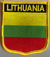 Lithuania Country Flag Embroidered Patch T7