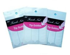 * 3 x Packs of 48 Nail Guides French Manicure Templates Stencils