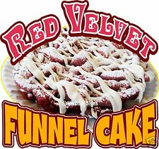 "Red Velvet Funnel Cake Decal 14"" Concession Trailer Food Truck Vinyl Sticker"