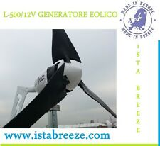 L-500 TURBINA EOLICA 500W 12V/24V SOLARE GENERATORE EOLICO ista Breeze