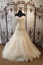 P87 MORILEE 1282 IVORY LT GOLD SZ 10 12  $1760  WEDDING GOWN DRESS
