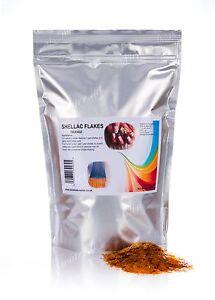 500g Shellac flakes, lemon, orange • French Polish, wood sealer, gloss, shine