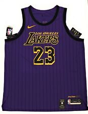 Nike Los Angeles Lakers Lebron James City Edición Jersey Talla 56 2XL AH6213-508