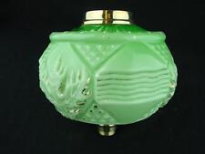 Vittoriano SAGOMATO Mint Green & Gilded Vetro Lampada Petrolio font, Stylised Decorazione