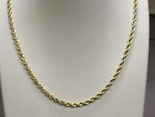 """14k SOLID Gold ROPE Pendant link Chain/Necklace 18"""" 3mm  15 grams  SR023"""