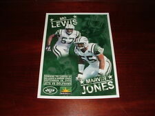NY JETS MO LEWIS MARVIN JONES DAY SEPTEMBER 18 2005 NFL FOOTBALL MINI POSTER