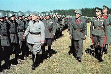 WW2 - Mussolini passe en revue les troupes italiennes pour le front de l'Est
