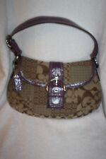 Coach Soho Handbag with Plum Patent Leather Trim/Handle *EUC* ONLY ONE IN PLUM