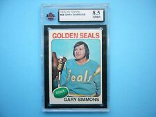 1975/76 TOPPS NHL HOCKEY CARD #29 GARY SIMMONS NM/MT+ KSA 8.5 SHARP+ 75/76 TOPPS