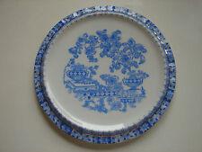 antiker Untersetzter, 17,2cm,  China Blau mit Goldrand, Tuppack