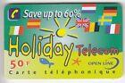 FRANCE TELECARTE / PHONECARD PREPAYEE .. 50F OPEN HOLIDAY TELECOM DRAPEAU +N°