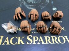 Hot Toys DX06 Pirates of Caribbean Jack Sparrow 1/6 Scale Hands Set with Pegs