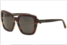 NWT Coach Women's HC8217 547887 Oxblood/Tort Varsity Stripe Sunglasses 57mm
