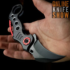 BLACK KARAMBIT SPRING ASSISTED POCKET KNIFE Tactical Folding Blade Tac Force NEW