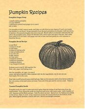 Book of Shadows Spell Pages ** Pumpkin Recipes ** Wicca Witchcraft BOS