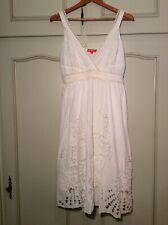DERHY ZARA ROBE BRODERIE ANGLAISE EN COTON BLANC- EMBROIDERY WHITE DRESS M NEW