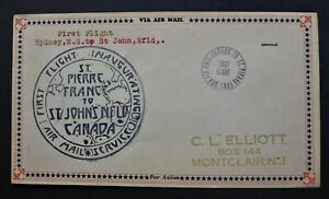 NEWFOUNDLAND /ST.PIERRE 1931 1ST. FLIGHT COVER SCARCE  CAN. SHIP $1.99  COMB. SH
