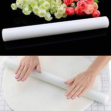 Silicone Bakeware Non-Stick Fondant Sugarcraft Embossing Rolling Pin Cake Decor